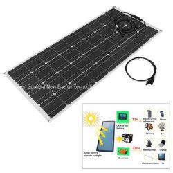100W 18V 12V High efficiency Semi Flexible Mono Solar Panel voor RV Boat Caravan Yacht, 12 V System