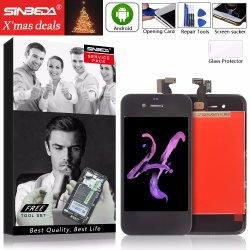 iPhone 4 4s LCDのタッチ画面の計数化装置アセンブリのためのSinbedaの携帯電話LCD