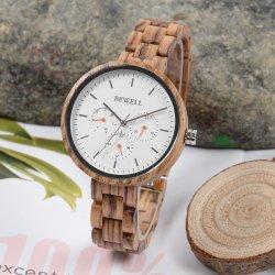 Neue klassische Entwurfs-Dame Uhr passen hölzerne Uhr an