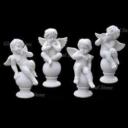 Мраморные Карвинг камня Baby Angel статуи скульптуры (GSS-264)