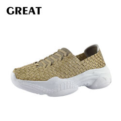 Greatshoe nouveaux arrivés du tissu chaussures chaussures de course plat Lady occasionnel