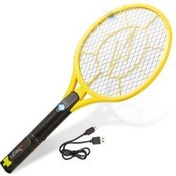 Electric Fly Swatter - rechargeable bug zapper raquette de tennis Coffre à filet tactile intégré à lampe de poche - tue les insectes, des moustiques, les moustiques des bogues