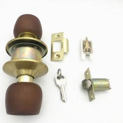 Home Quarto Hardware Fechadura porta redonda de madeira Botão Tubular fechadura da porta com chave de Latão