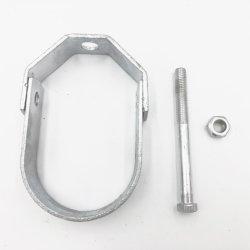 Staffa a gancio regolabile per tubo in acciaio zincato UL List