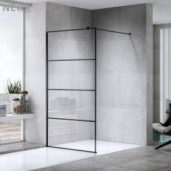 2021 卸し売り新しい設計ぬれた部屋の黒の歩行は強化した ガラスのシャワースクリーン (L5506)