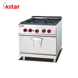 Berufsküche-Geräten-Gas-Reichweiten-Ofen mit Ofen 4-Burners&Gas