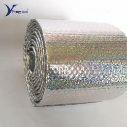 Film en aluminium résistant au feu de la bulle Bulle d'enrubannage en aluminium pour mur isolement, la cavité isolement, isolant de pavillon