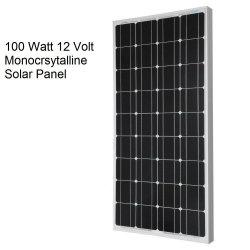 Zeer efficiënte Mono 100W watt zonnepaneel voor off-Grid 12 Volt RV-boot, elektrische auto, 12 Volt accusysteem opladen