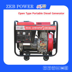 6kVA de Open Diesel van het Type Draagbare Generators van uitstekende kwaliteit
