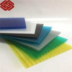 ورقة حائط مزدوج من البولي كربونات متعددة الألوان من كوانفو الصينية لبناء المواد