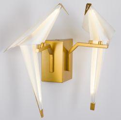 L'arrivée du corridor d'oiseaux de papier moderne Chambre wall lamp
