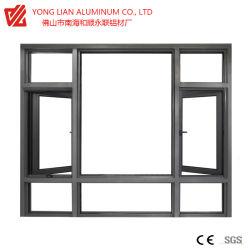 Thermisches Bruch-Flügelfenster und Schieben des Aluminiumfensters und der Tür mit der Puder-Beschichtung, die für Baumaterialien anodisiert