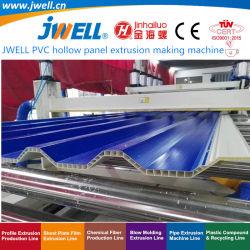 Jwell-Konische Doppelschraube Belüftung-hohle Plastikwellen-gewölbtes Blatt, das stromabwärts Strangpresßling-Maschine für mehrfachverwendbaren Behälter herstellend aufbereitet|Kisten-Schindel