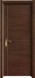 Black folheado de madeira de nogueira de núcleo sólido Prefinished Interior Comercial as portas de madeira