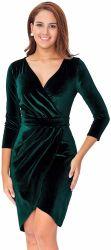 Женщин&Кампания просрочена; S длинной втулки бархата Bodycon Wrap платья для свадьбы гость