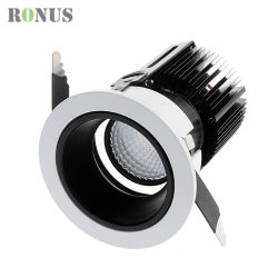 Lampada di lusso Downlight d'accensione dell'interno della lampadina dell'indicatore luminoso 3-25W del punto del soffitto di prezzi commerciali del riflettore della PANNOCCHIA del LED
