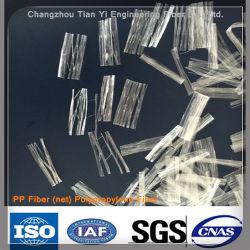 Il polipropilene pp di Microfiber Microfibre ha fibrillato la fibra per materiale da costruzione