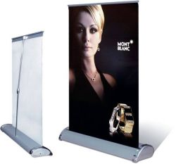 A4 Mini Tabletop Roll up Stand de la bannière d'affichage (DR-05)
