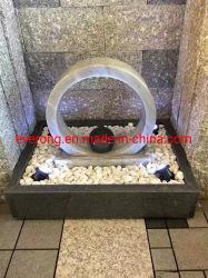 De mármol tallada en piedra flotante bola pequeña fuente de agua para el hogar y decoración de interiores