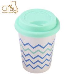 6 Oz de 180ml avec la tasse de café en céramique du couvercle en silicone