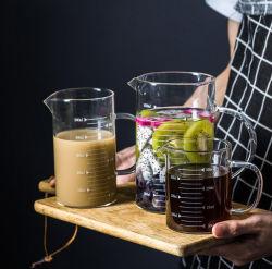 Prix de gros Bécher de verre en verre résistant à la chaleur tasse avec verre épais