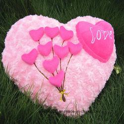 熱い販売のバレンタインはギフトのプラシ天の中心のクッションをつなぐ