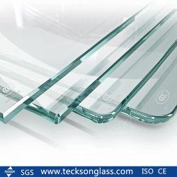 Commerce de gros verre trempé de sécurité broyé pour vitre coulissante de porte de la cuisine de pliage