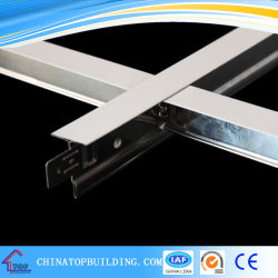 Suspendu Ceriling T la grille pour le système de plafond en fibre minérale de PVC/plafond peint blanc T Bar 32*24*0,3*3600mm