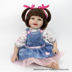Bebé de algodón de vinilo de 22 pulgadas renace Muñecas los juguetes