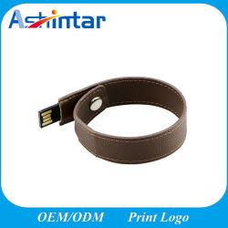 Leder USB-grelle Platte-Armband USB-Flash-Speicher-Feder-Laufwerk Wrisbtand USB-Stock