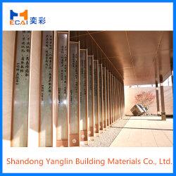 Le cuivre aluminium brossé de placage de panneaux de décoration murale pour la construction de 2,0 mm