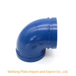 Le moulage de fonte ductile/peinte époxy/Raccords de tuyaux cannelés galvanisé coude à 90 degrés ou plier (taille 2 1/2'')