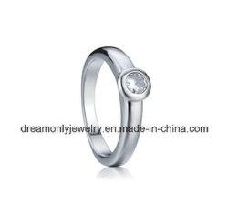 Anello di diamante più fine placcato Rhodium di aggancio dei monili dell'anello dell'anello dei monili di modo