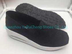 Fácil de usar las mujeres los zapatos con suela de cojín de aire y el Látex Plantilla