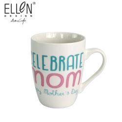 Regalo promocional de 12 onzas de taza de café de cerámica de la botella de agua para el día de la madre