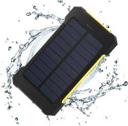 100% de la carga completa por la luz solar impermeable plegable Banco 10000mAh de energía solar Cargador solar portátil con luz LED