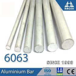 Les barres rondes en aluminium extrudé 6061/6082 fabriqués en Chine