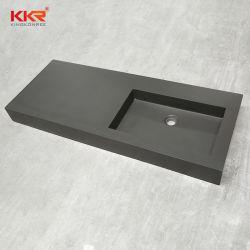 Salle de bains sanitaires de la résine de courtoisie Surface solide du bassin de lavage de pierre