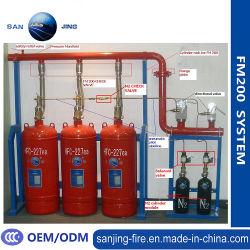 Comercio al por mayor limpieza de gas FM200 agente extintor de incendios