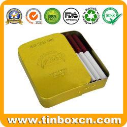Cigarette Cigaret Tin case, faites glisser l'étain, le cigare d'étain, boîtes coulissantes