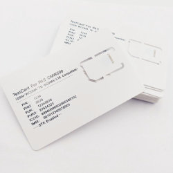Venda quente GSM/WCDMA/TD-SCDMA/LTE Cmw500 Teste do cartão SIM 3G/4G Testar Cartão SIM (2FF/3FF/4FF Slot)