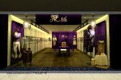 First Rate Dameskleding Shop Design Met Metalen Rek Standaard Display Decoratie