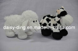 Plush Vaca permanente e de ovinos com material macio