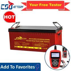 Csbattery 12V 100ah/150ah/200ahの深サイクルのゲルの太陽のための再充電可能な蓄電池かインバーターまたは力ツールまたは電気スクーターまたは自転車または手段またはPack/6V/Csb