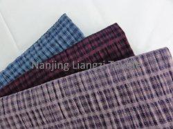 Teñido de hilados de algodón con poliéster tela elástica (LZ5215)