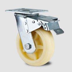 H3 de type Heavy Duty/Fixe/frein de pivotement de la roue en nylon