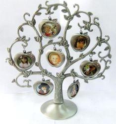 Meduim Family Tree Cadre Photo en alliage avec 7 cadres d'image- cadres photo numériques