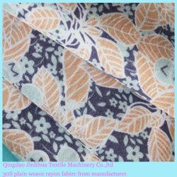 100%Tissu de rayonne de l'impression florale pour les femmes de l'habillement