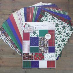 DIY de navidad de Scrapbooking4 Telas hechas a mano el paquete de papel papel Scrapbook