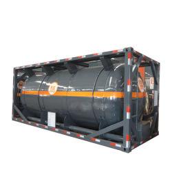 20 フィートの高品質、非圧力化学薬品液体貯蔵タンク ISO タンクコンテナ